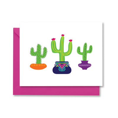 Cactus Greeting Card by Kelly Renay