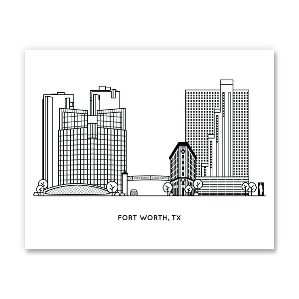 Fort Worth Texas Art Print