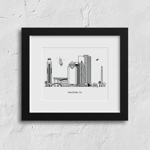 Houston Texas Art Print