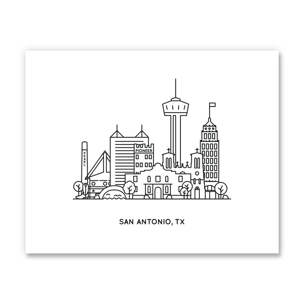 San Antonio Texas Art Print