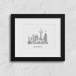 San Antonio Texas Art Print by Kelly Renay