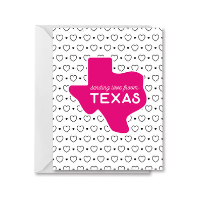 Sending Love from Texas greeting card by kelly renay