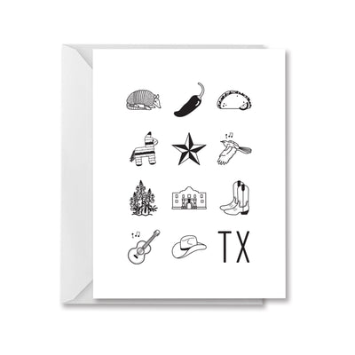 Icons of Texas Greeting Card