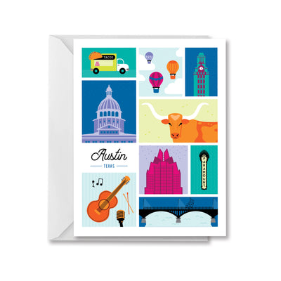 Austin Texas Greeting Card by Kelly Renay