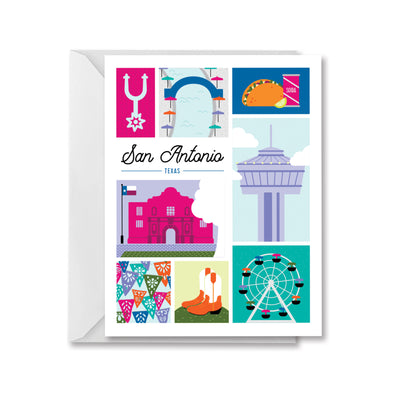 San Antonio Texas Greeting Card by Kelly Renay