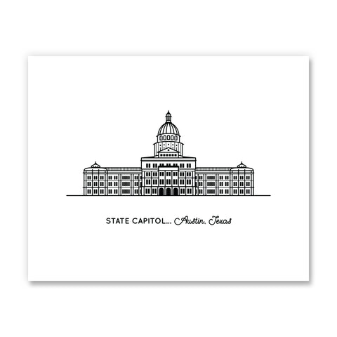 Texas Capitol Building Art Print