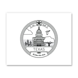 Texas Seal Art Print