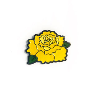 Yellow Rose Enamel Pin