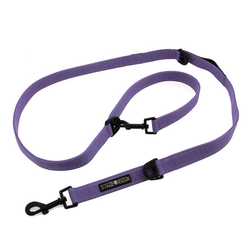 6-Way Multi-Function Doggie Leash Paisley Purple