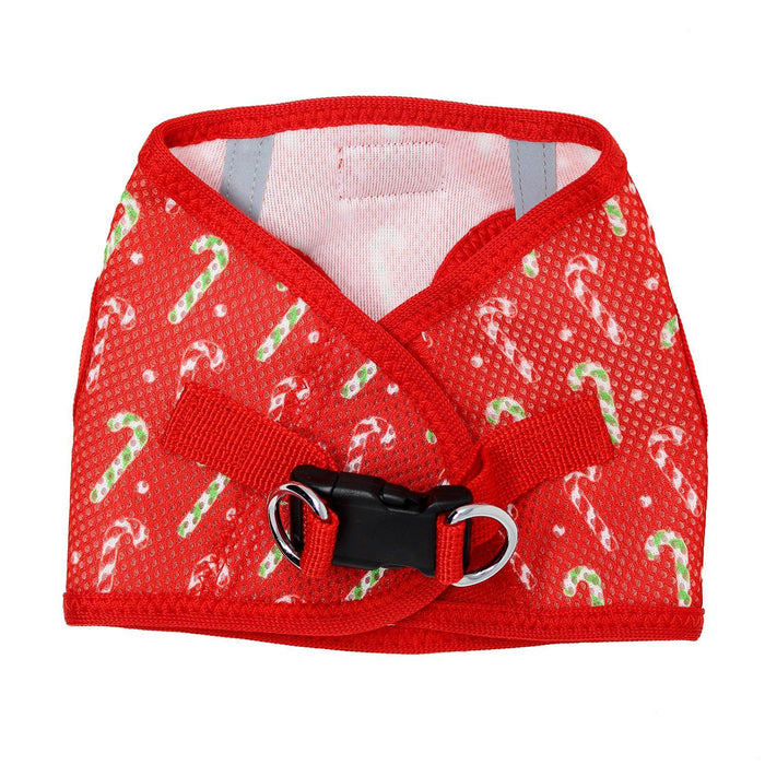 American River Choke Free Dog Harness Holiday Line - Candy Canes