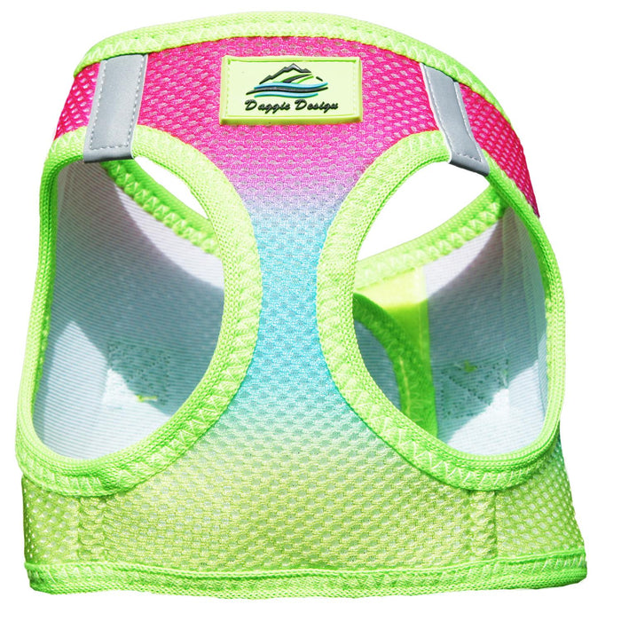 American River Choke Free Dog Harness by Doggie Design - Ombre Collection Rainbow
