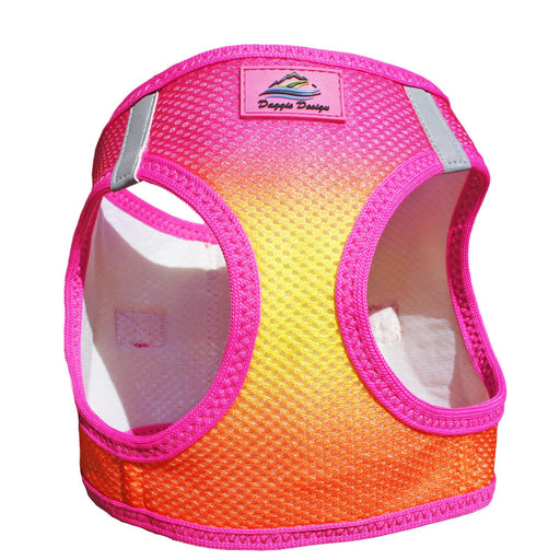 American River Choke Free Dog Harness - Ombre Collection Raspberry/Pink/Orange
