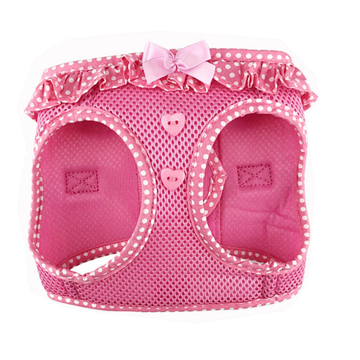 American River Choke-Free Dog Harness Polka Dot Collection Pink by Doggie Design
