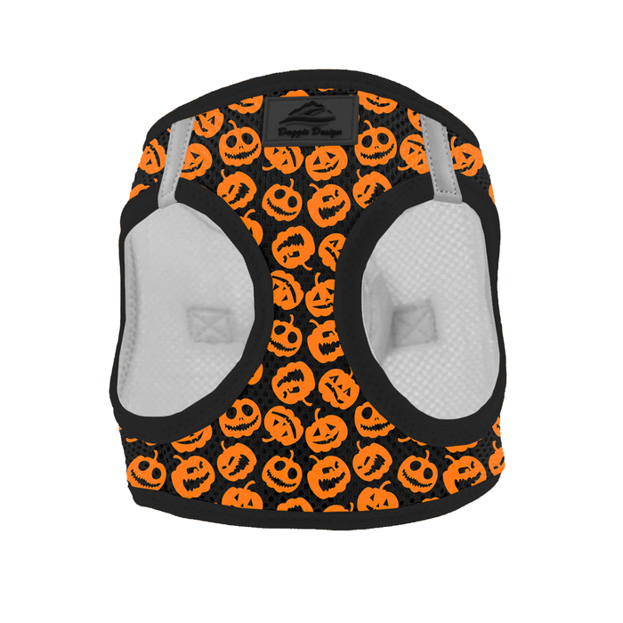 American River Choke Free Jack-o-Lanterns Halloween Themed Dog Harness by Doggie Design