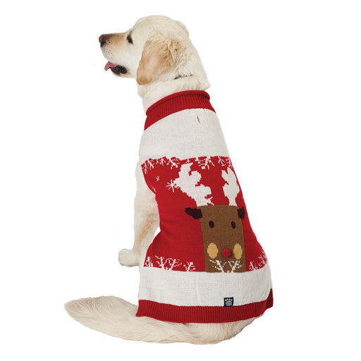 Blitzen's Sparkle Reindeer Dog Sweater