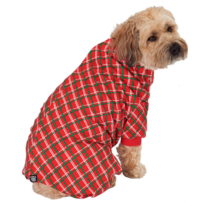 Christmas Plaid Dog Pajamas