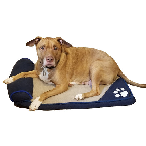 Flat Doggie Bed with Attached Pillow