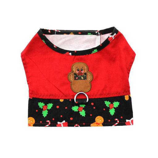 Gingerbread Fabric Harness Vest with Matching Leash by Doggie Design