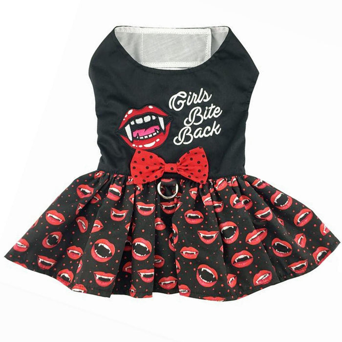 Girls Bite Back - Halloween Dog Harness Dress by Doggie Design