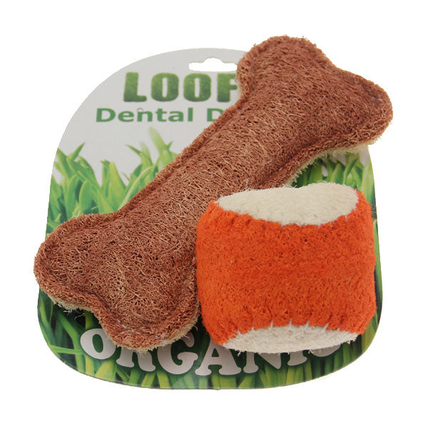 Loofah Dental Dog Toy Combo
