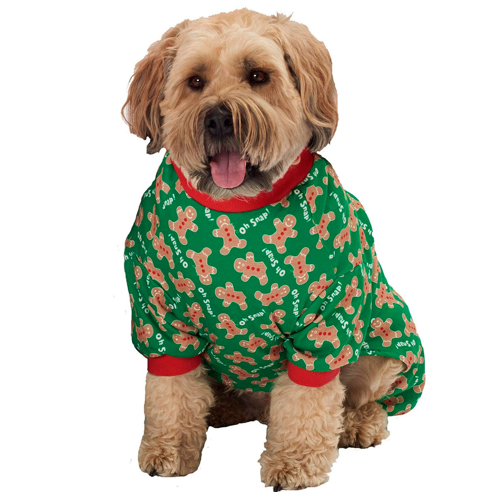 Oh Snap! Gingerbread Dog Pajamas