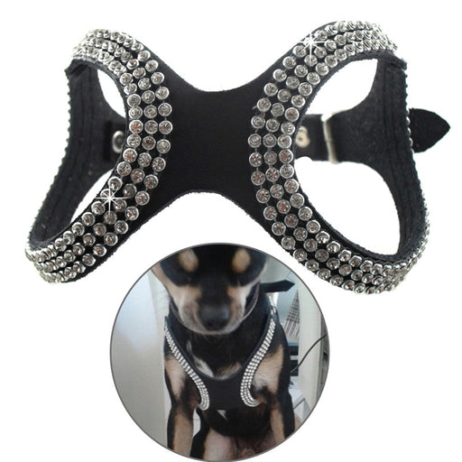 Blinged Out Leather Harness
