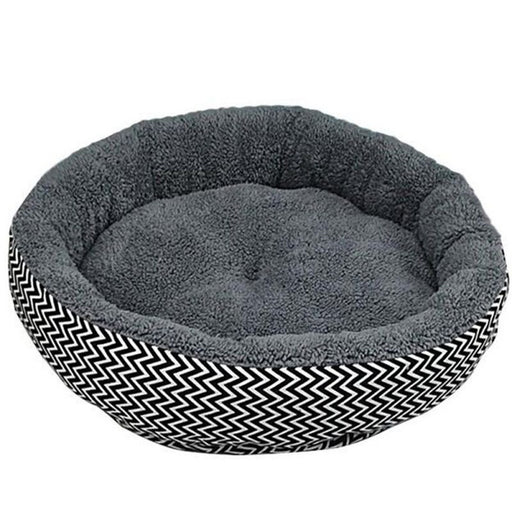 Zig Zag Flannel Dog Bed
