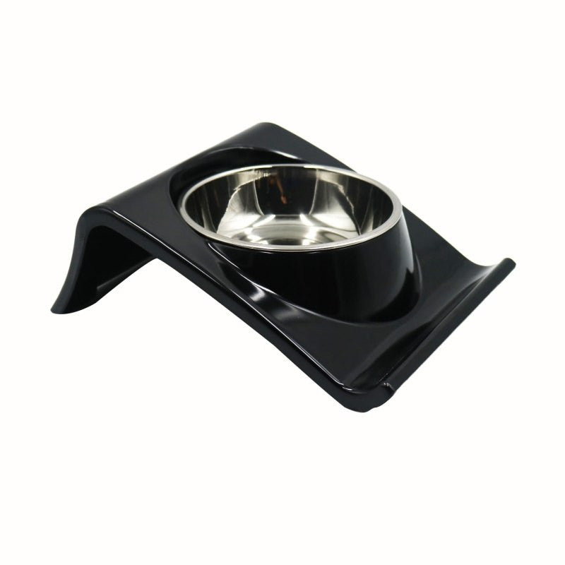Stainless Steel Dog Bowl with Non Skid Bracket Holder