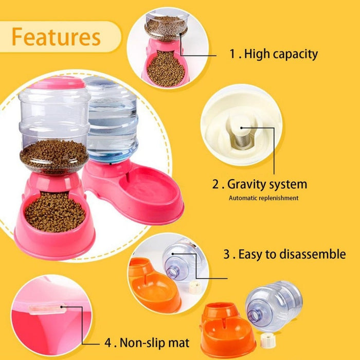 3.5L Automatic Doggie Food/Water Feeder