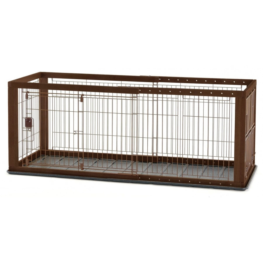 Richell Expandable Pet Crate with Floor Tray