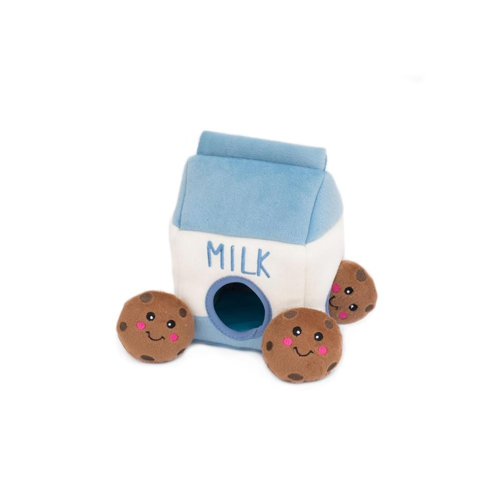 Burrow Dog Toy by ZippyPaws - Milk and Cookies