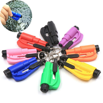 Mini Safety Hammer Car Life-saving Escape Hammer Key Chain Glass Breaker