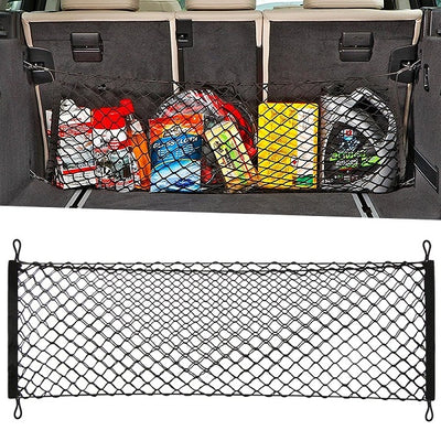 Adjustable Elastic Heavy Duty Cargo Net - Universal Stretchable Truck Net with Hooks Organizer for Car, SUV and Truck