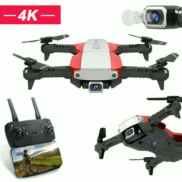 4K HD Wide Angle Camera RC Drone Quadcopter
