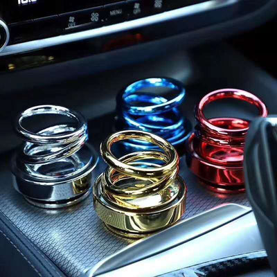 Car-Air Freshener High-end Double Ring Rotating Designed UFO  Car Air Purifier