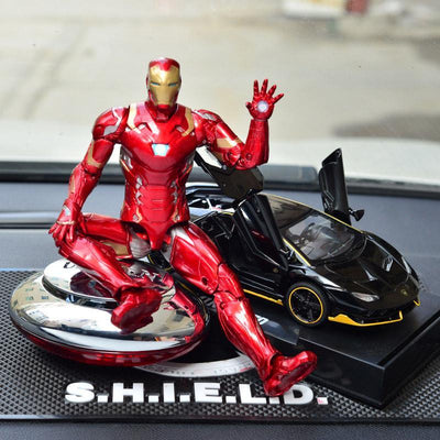 Lamborghini Car Model Decoration Creative Metal Car Interior With Perfume Oil Aromatherapy Avengers Hero Model Suit