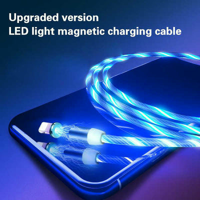 Led Luminous Magnetic Charging Cable