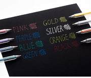 Flash Gel Pen Color Gel Pen Fluorescent Notes Pen Pearl Painting Pen 1.0mm, Extra Discount & FREE SHIPPING for 2 Sets