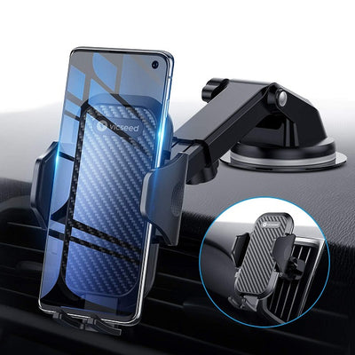Universal Car Phone Mount, Car Phone Holder for Car Dashboard Windshield Air Vent, Adjustable Long Arm Strong Suction Cell Phone Car Mount,  Fit for iPhone X XS Max XR 8 Plus Samsung Galaxy S10 S9