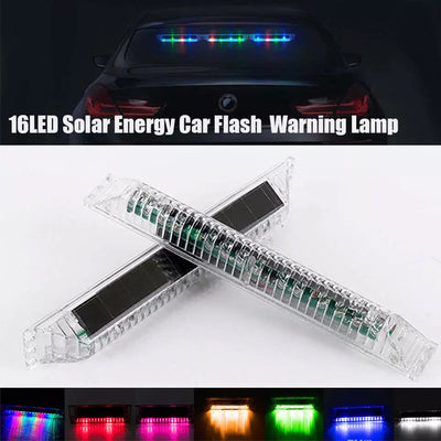 LED Solar Colorful Car Dash Strobe Light Flash Emergency Warning Lamp