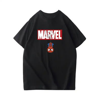 Men's T-shirt Marvel Spider-Man Cotton Short Sleeve Marvel 10th Anniversary