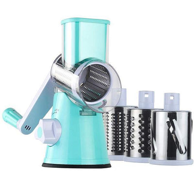 Manual Rotary Round Grater Cheese Vegetable Potato Carrot Grinder with 304 Stainless Steel Blades