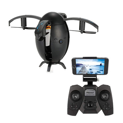Drone with Camera for Kids Mini Foldable Egg-Shaped Appearance RC Quadcopters 2.4GHz 0.3MP HD Camera WiFi FPV RC Drone