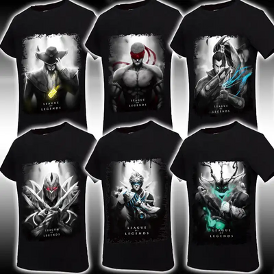 T-shirt  LOL League of Legends Game Hot