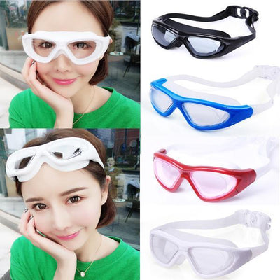 Swimming Goggles Waterproof and Anti-Fog Large Frame