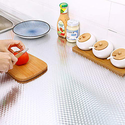 Aluminum Foil Stickers, Self Adhesive, Oil-proof, Water-proof, Ideal for Kitchen Wall, Stove and Drawer