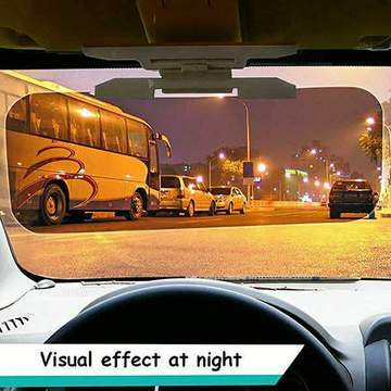 HD Anti-Glare Car Visor, 2 in 1 Day and Night Anti-Dazzle Driving Sunvisor UV-Filtering Eye Protector