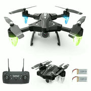Foldable RC QuadCopter F69 Drone Altitude 2.4Ghz 6-Axis Gyro 4CH RC Hold Night Light Mode