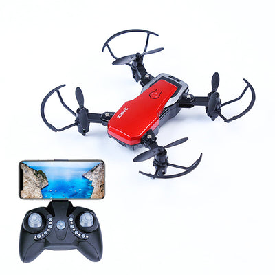 Mini Folding Drone Four-axis Remote Control Aircraft, Gravity Sensing Real-Time Map Aerial Photography Drone Model 360 Degree Roll