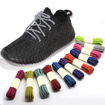 1Pair 3M Reflective Round Sport Shoelaces